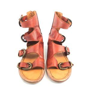 Free People Buckle Strap Gladiator Ankle Sandals